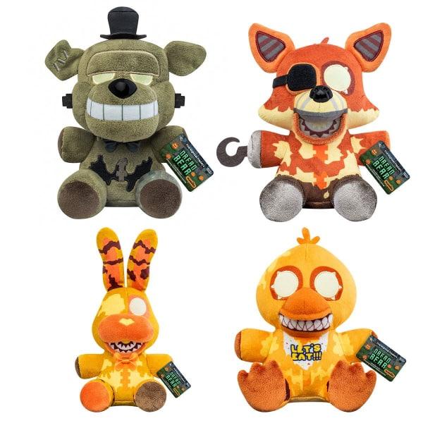Five Nights at Freddy's: Dreadbear Plush: Dreadbear, Grim Foxy, Jack-O-Bonnie, and Jack-O-Chica