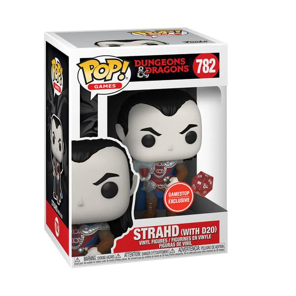 Funko POP! Games Dungeons and Dragons Strahd (with D20) Metallic