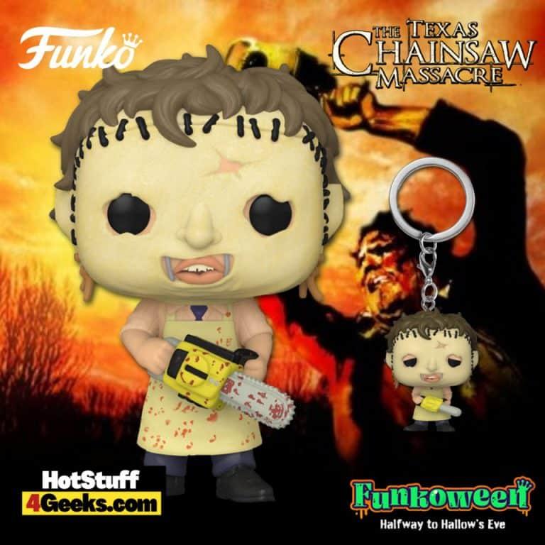 Funko POP! Movies: The Texas Chainsaw Massacre - Leatherface Funko Pop! Vinyl Figure and Pop! Pocket Key chain - Funkoween 2021