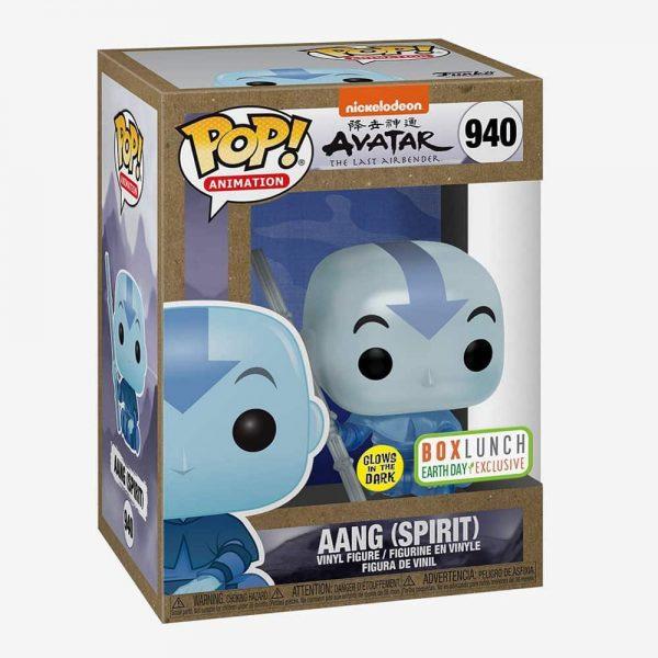 Funko Pop! Animation: Avatar The Last Airbender - Aang (Spirit) Glow-In-the-Dark (GITD) Funko Pop! Vinyl Figure - BoxLunch Earth Day Exclusive