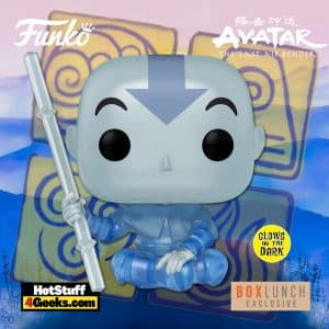 Funko Pop! Animation: Avatar The Last Airbender - Aang (Spirit) Glow-In-the-Dark (GITD) Funko Pop! Vinyl Figure - BoxLunch Earth Day Exclusive