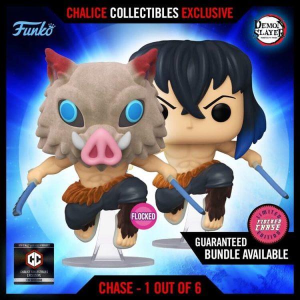 Funko Pop! Animation: Demon Slayer Inosuke (Flocked) With Chase Variant Funko Pop! Vinyl figure - Chalice Collectibles Exclusive