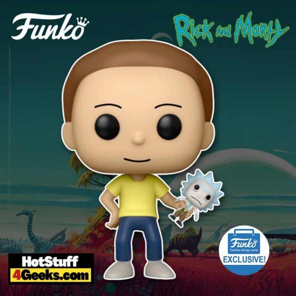 Funko Pop! Animation: Rick and Morty - Morty With Shrunken Rick Funko Pop! Vinyl Figure - Funko Shop Exclusive
