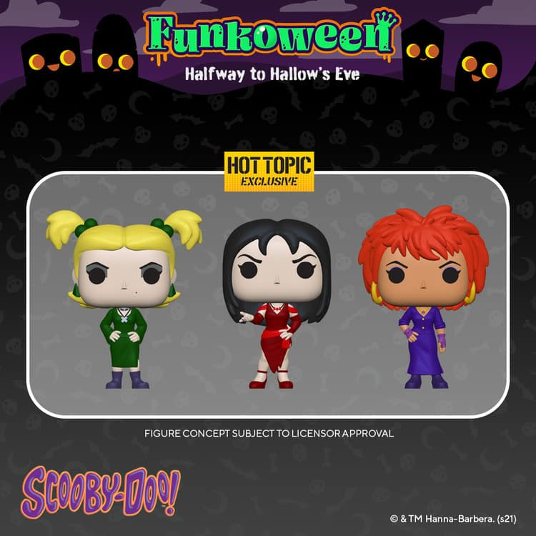 Funko Pop! Animation: Scooby-Doo: Hex Girls 3-Pack Funko Pop! Vinyl Figures - Hot Topic Exclusive