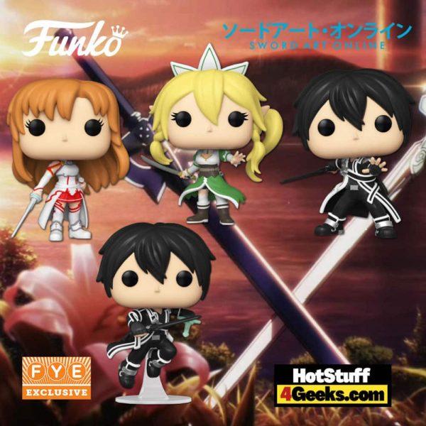 Funko Pop! Animation: Sword Art Online - Asuna, Leafa, Kirito, Kirito with Two Swords, and Asuna with Two Swords Funko Pop! Vinyl Figures