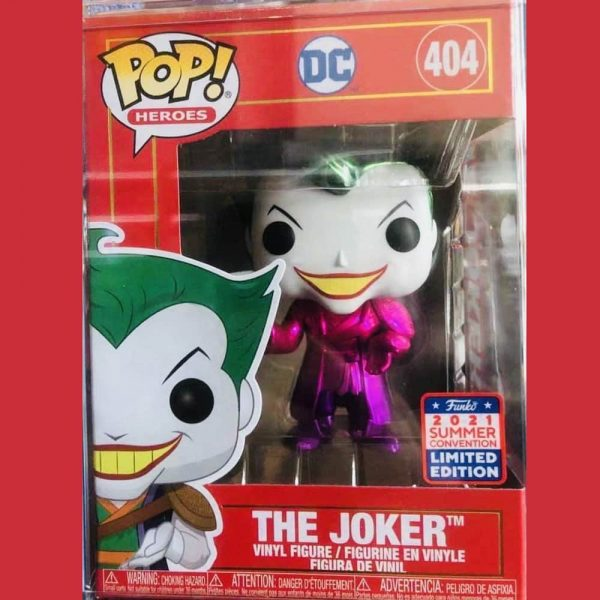 Funko Pop! DC Heroes: Imperial Palace - The Joker (Metallic) Funko Pop! Vinyl Figure - Limited Edition China Con Exclusive