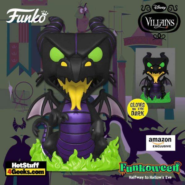 Funko Pop! Disney Villains - Maleficent Dragon Glow in The Dark (GITD) 10-Inch Jumbo Funko Pop! Vinyl Figure - Amazon Exclusive (Funkoween 2021)