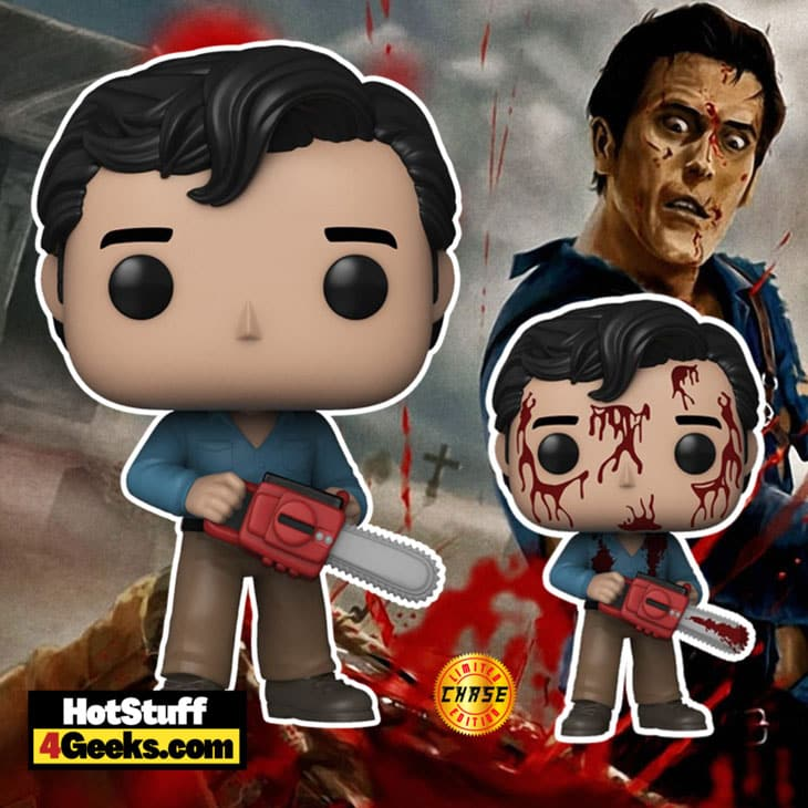 Funko Pop! Movies: Evil Dead Ash 40th Anniversary With Bloody Chase Variant Funko Pop! Vinyl Figure