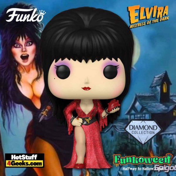 Funko Pop! Icons: Elvira, Mistress of the Dark - 40th Anniversary Diamond Glitter Funko Pop! Vinyl Figure - Funkoween 2021