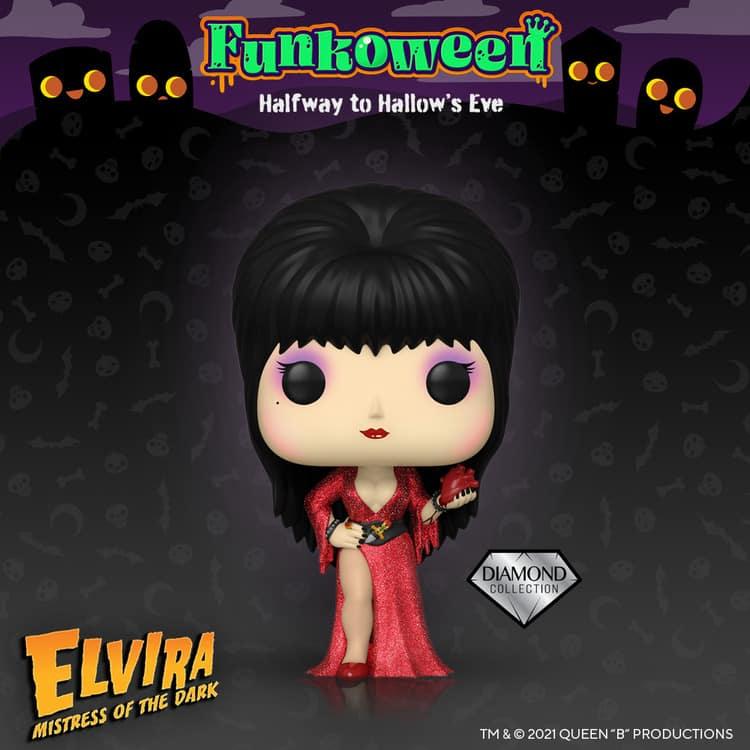 Funko Pop! Icons: Elvira, Mistress of the Dark - 40th Anniversary Diamond Glitter Funko Pop! Vinyl Figure