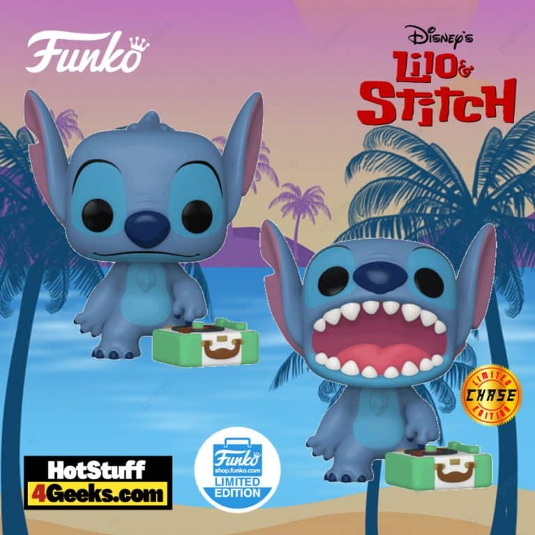 Funko Pop! Lilo and Stitch: Stitch With Record Player with Chase Variant Funko Pop! Vinyl Figure - Funko Shop Exclusive
