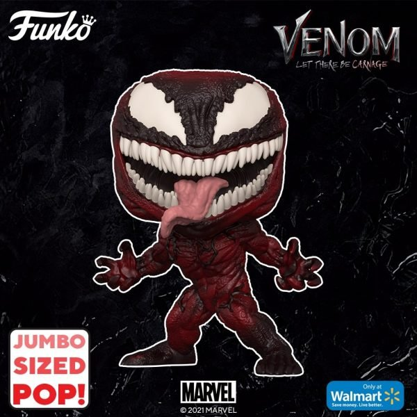 Funko Pop! Marvel: Venom: Let There be Carnage - Carnage 10-Inch Jumbo Sized Funko Pop! Vinyl Figure - Walmart Exclusive