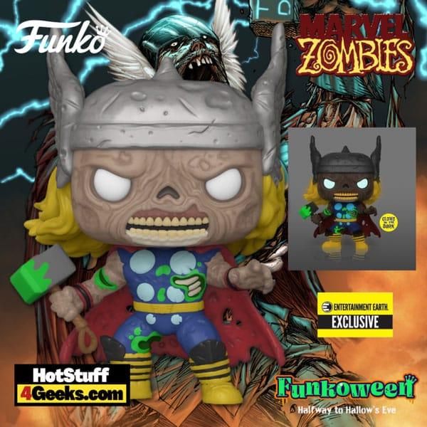Funko Pop! Marvel Zombies - Thor Glow-in-the-Dark (GITD) Funko Pop! Vinyl Figure - Entertainment Earth Exclusive (Funkoween 2021)