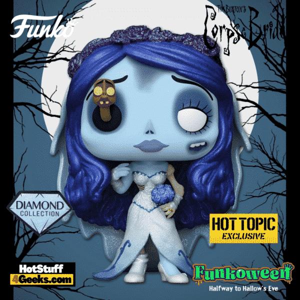 Funko Pop! Movies: Corpse Bride - Emily With Maggot Diamond Glitter Collection Funko Pop! Vinyl Figure - Hot Topic Exclusive - Funkoween 2021
