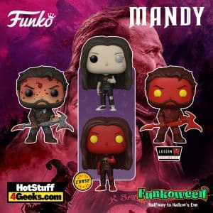 Funko Pop! Movies: Mandy - Red Miller Bloody, Red Miller Evil, and Mandy With Chase Funko Pop! Vinyl Figure - Funkoween 2021