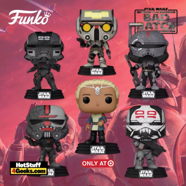 Funko Pop! Star Wars: Bad Batch - Crosshair, Hunter, Tech, Wrecker, and Echo Funko Pop! Vinyl Figures