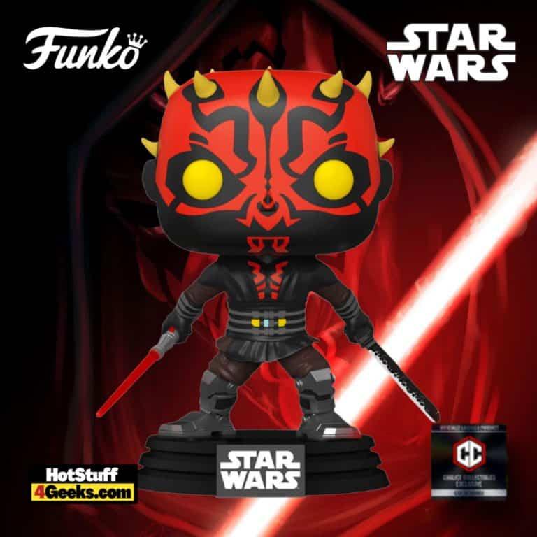 Funko Pop! Star Wars: Clone Wars - Darth Maul with Darksaber #450 Funko Pop! Vinyl Figure - Chalice Collectibles Exclusive