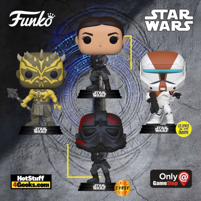 Funko Pop! Star Wars Gaming Greats: Nightbrother, Boss (Glows In The Dark), and Iden Versio (W/ Chase) Funko Pop! Vinyl Figures - GameStop Exclusives
