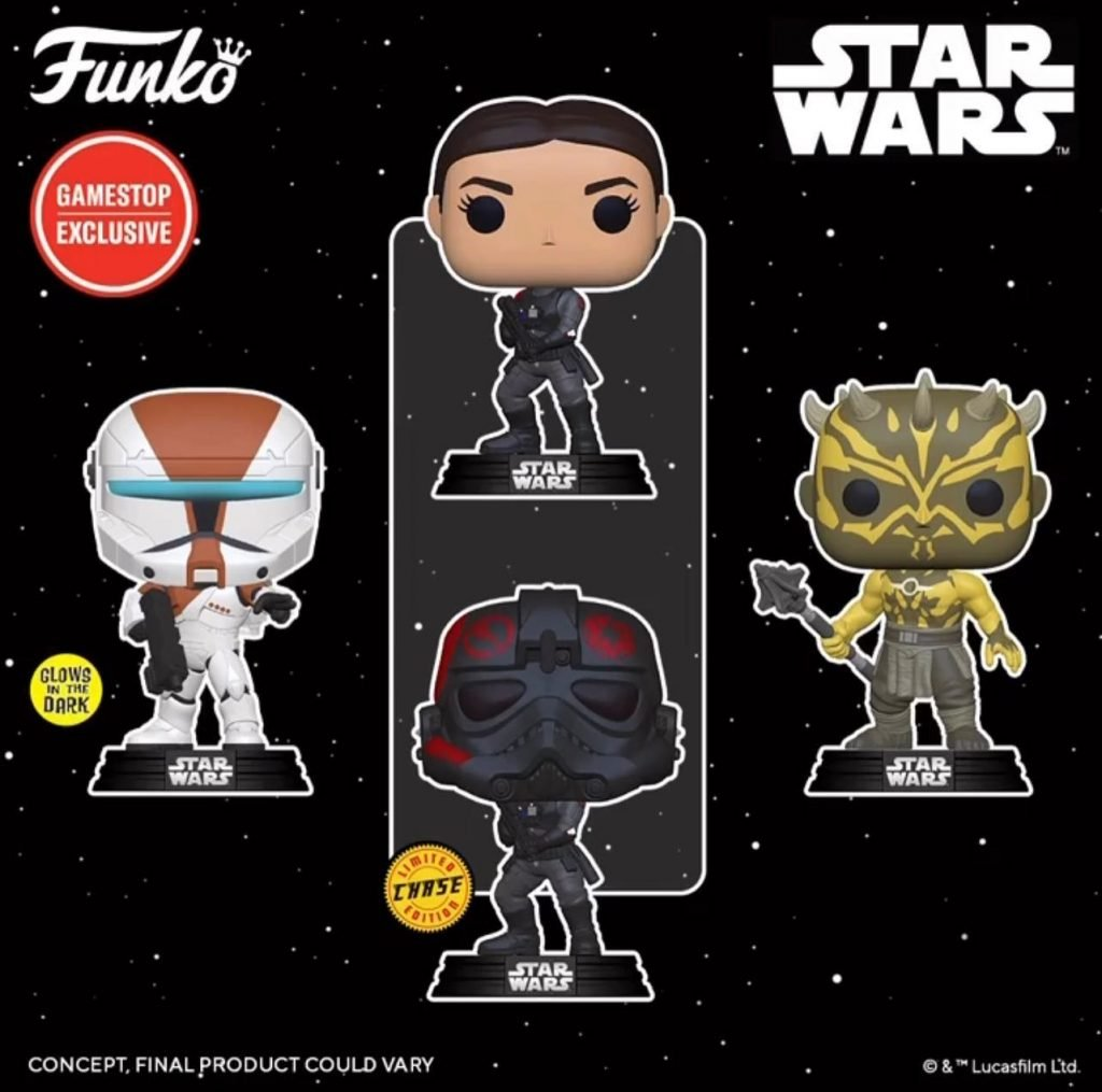 Funko Pop! Star Wars Gaming Greats:  Nightbrother, Boss (Glows In The Dark), and Iden Versio (W/ Chase) Funko Pop! Vinyl Figures - GameStop Exclusives