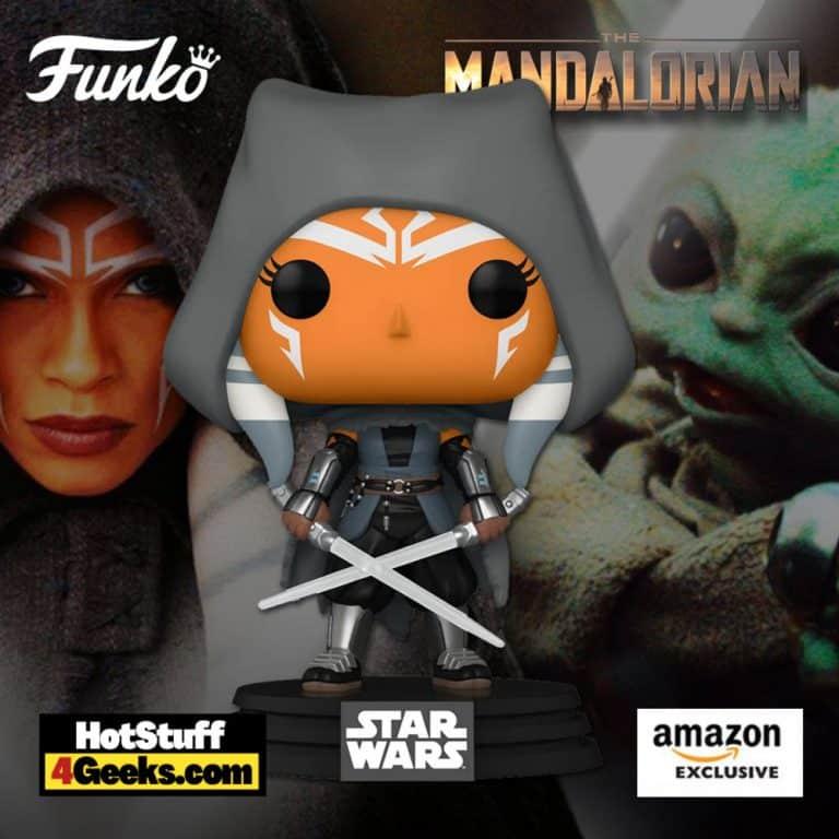Funko Pop! Star Wars: The Mandalorian – Hooded Ahsoka with Duel Sabers Funko Pop! Vinyl Figure – Amazon Exclusive