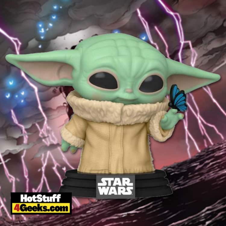 Funko Pop! Star Wars: The Mandalorian – The Child (Grogu) with Butterfly Funko Pop! Vinyl Figure - GameStop Exclusive