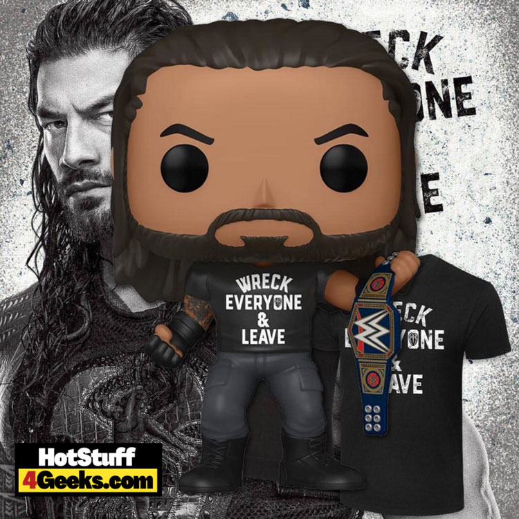 Funko Pop! WWE – Roman Reigns with Title – Wreck Everyone and Leave Funko Pop! Vinyl Figure – Amazon Exclusive