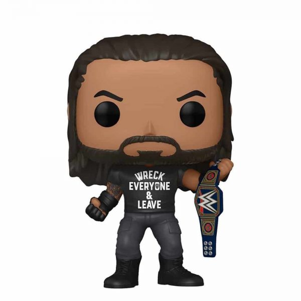 Funko Pop! WWE - Roman Reigns with Title - Wreck Everyone and Leave - Amazon Exclusive