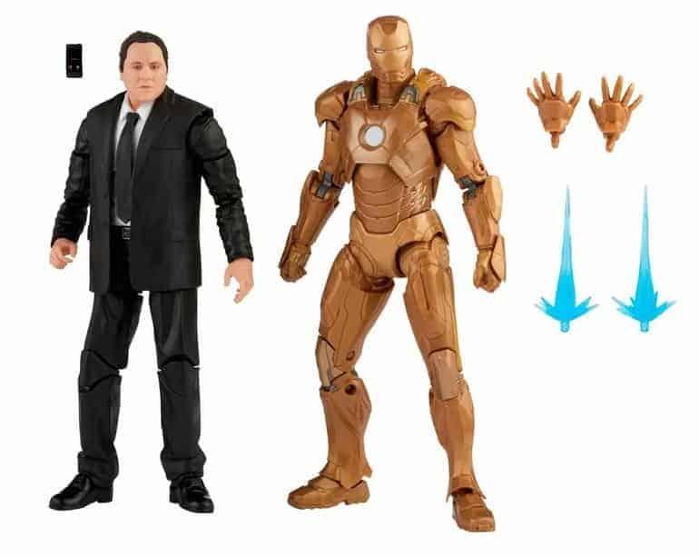 Hasbro: Marvel Legends - Happy Hogan and Iron Man Mark XXI 6-Inch Action Figures