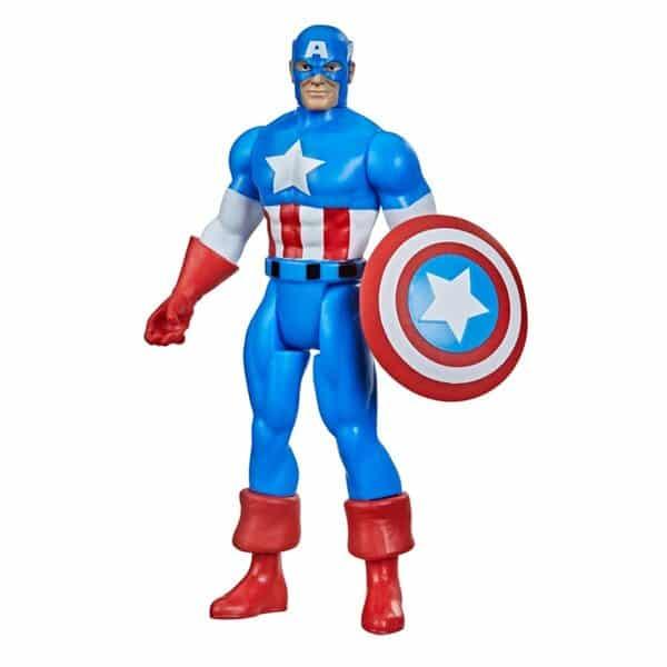 Hasbro Marvel Legends Retro 375 Collection – Black Panther, Daredevil, Iron Man, Elektra, Iceman, Electro, and Captain America Action Figures