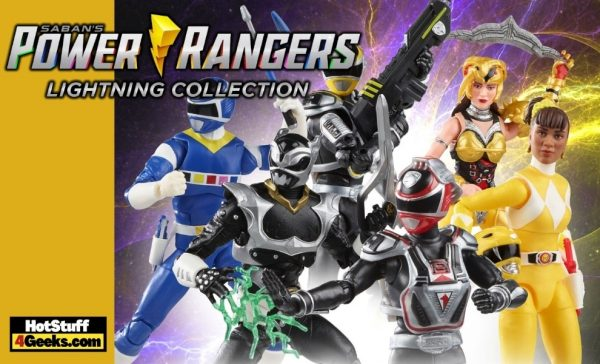 Hasbro: Power Rangers Lightning Collection S.P.D. A-Squad: Pink Ranger, Green Ranger, Red Ranger, Yellow Ranger, In Space Blue Ranger Vs. Silver Psycho Ranger and Mighty Morphin Yellow Ranger Aisha vs. Scorpina 6-Inch Action Figures - Wave 10