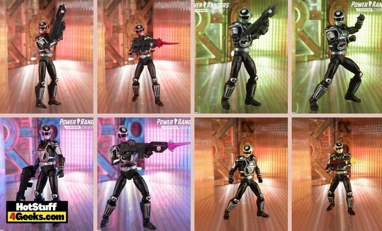 Hasbro: Power Rangers Lightning Collection S.P.D. A-Squad: Pink Ranger, Green Ranger, Red Ranger, Yellow Ranger 6-Inch Action Figures - Wave 10