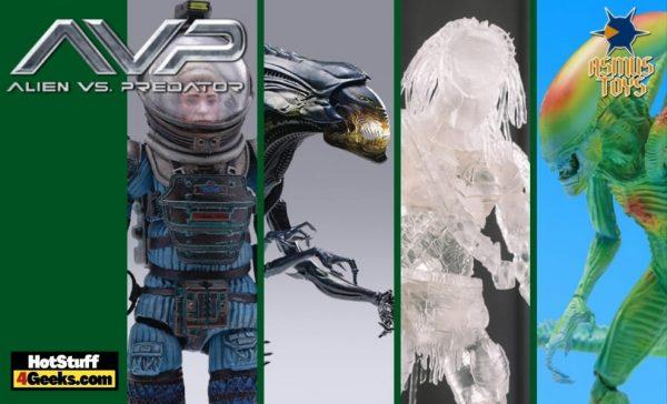 Hiya Toys: Alien - Joan Lambert, Alien Queen, Alien Warrior, and Wolf Predator 1:18 Scale PX Previews Exclusive Action Figures