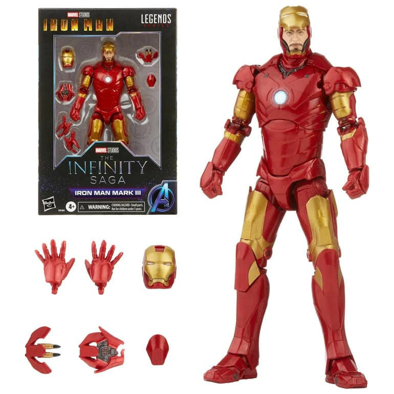 Hasbro: Marvel Studios Infinity Saga - Iron Man Marvel Legends Mark 3 Armor 6-inch Action Figure
