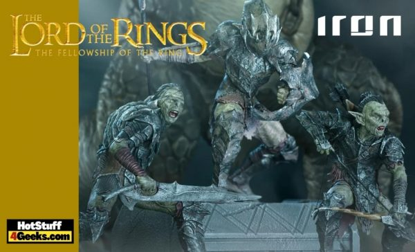 Iron Studios: Lord of the Rings - Swordsman Orc, Archer Orc, and Armored Orc BDS Art Scale 1/10 Statues