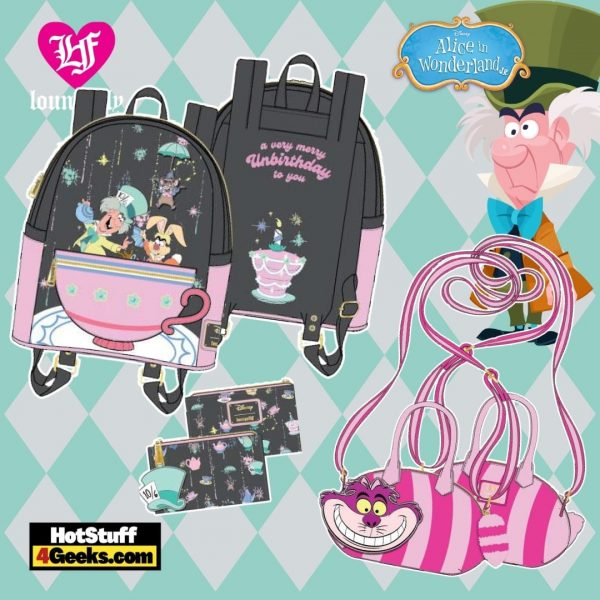 Loungefly Disney Alice in Wonderland A Very Merry Unbirthday to You Collection