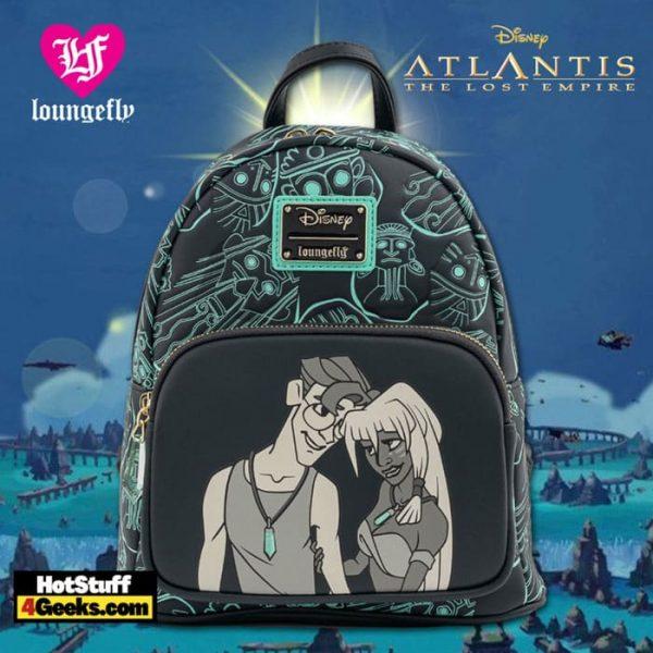 Loungefly Disney Atlantis 20th Anniversary Kida Milo Mini Backpack