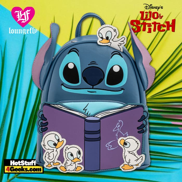 Loungefly Disney Lilo and Stitch Story Time Duckies Mini Backpack