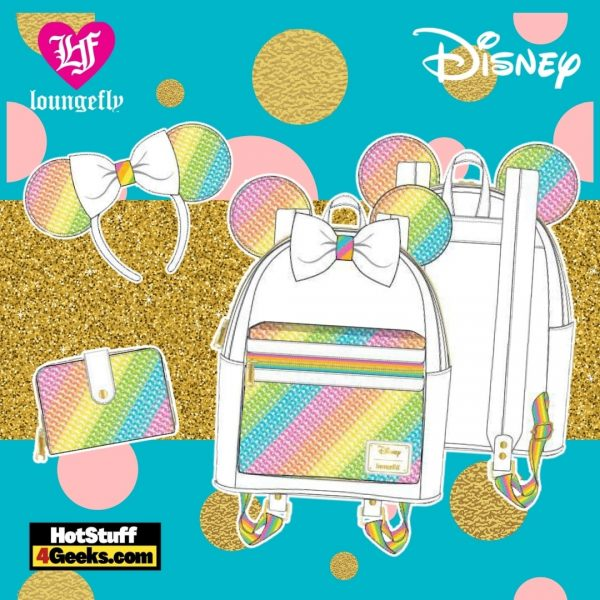 Loungefly Disney Sequin Rainbow Minnie Collection