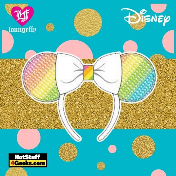 Loungefly Disney Sequin Rainbow Minnie Ears Headband