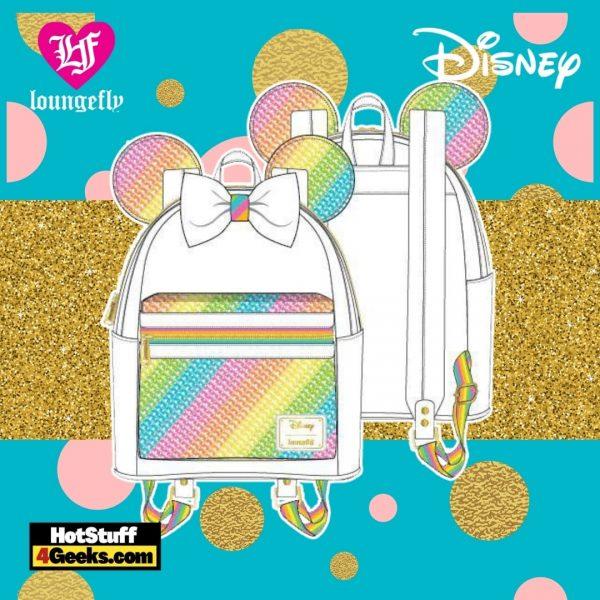 Loungefly Disney Sequin Rainbow Minnie Mini Backpack