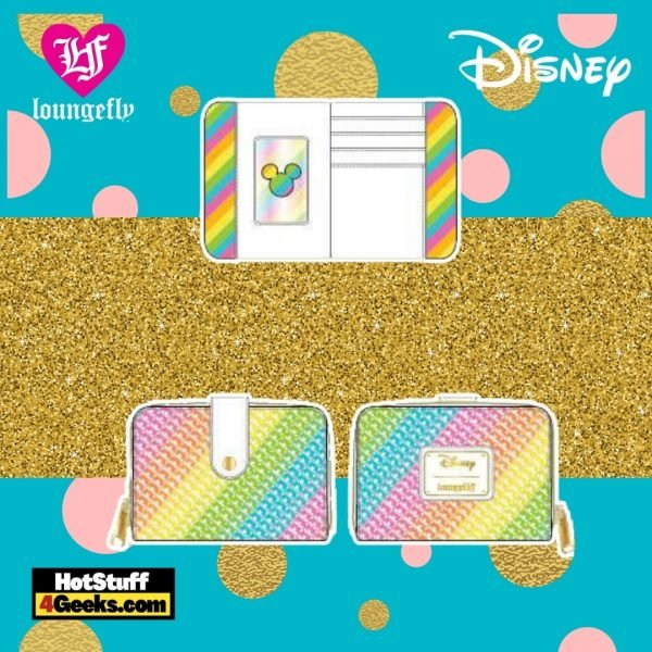 Loungefly Disney Sequin Rainbow Minnie Zip-Around Wallet