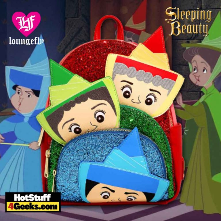 Loungefly Disney Sleeping Beauty Fairy Godmothers Figural Mini Backpack - BoxLunch Exclusive