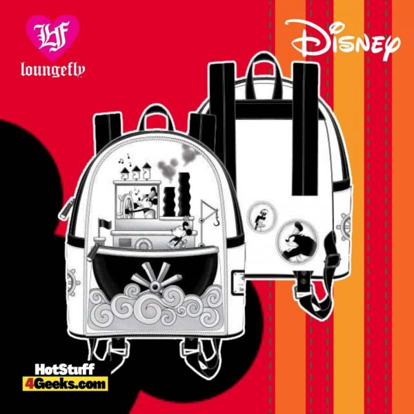 Loungefly Disney Steamboat Willie Music Cruise Mini Backpack