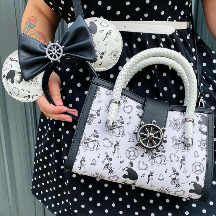 Loungefly Disney Steamboat Willie Crossbody and Ears