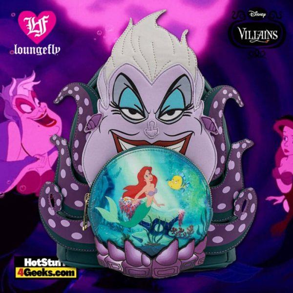 Loungefly Disney Villains Scene Ursula Crystal Ball Mini Backpack