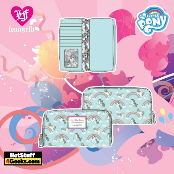 Loungefly Hasbro My Little Pony Starshine Rainbow AOP Zip Around Wallet