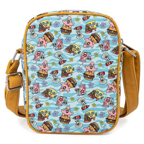 Loungefly Spongebob Gang AOP Passport Bag