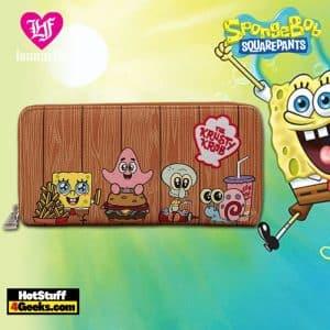 Loungefly Spongebob Krusty Krab Gang Zip Around Wallet