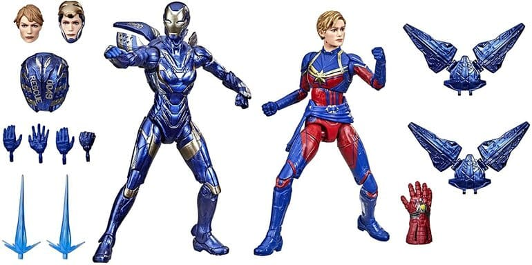 Hasbro: Marvel Legends - Infinity Saga - Captain Marvel and Rescue Armor 6-inch Action Figure 2-Pack - Amazon Exclusive