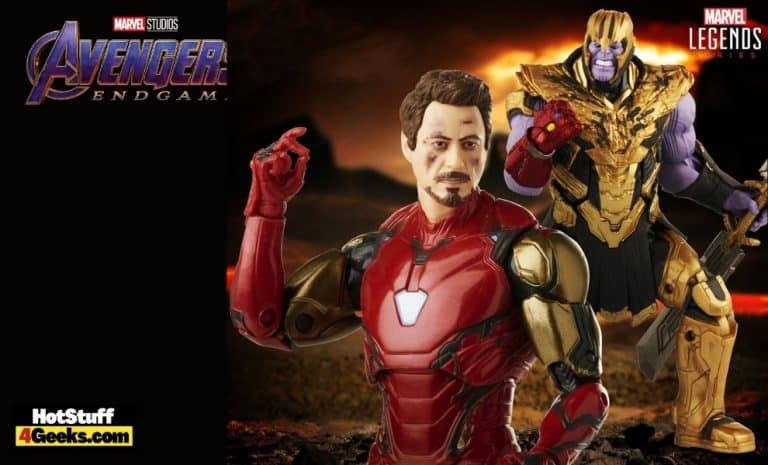 Hasbro- Marvel Legends: Infinity Saga - Avengers Endgame: Iron Man 85 vs. Thanos 6-Inch Action Figures